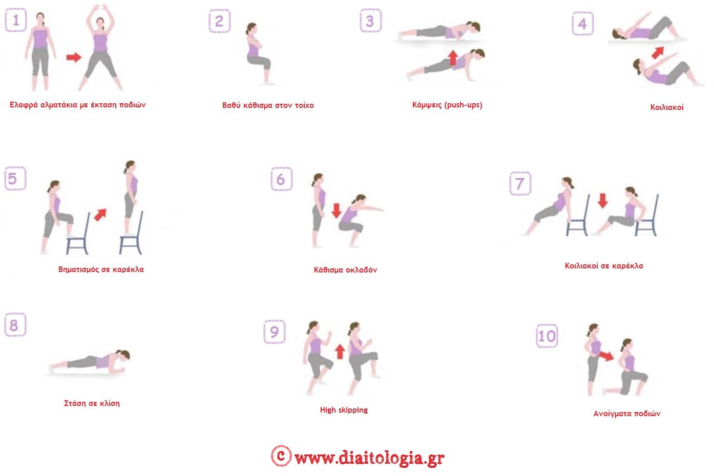 Εύκολες ασκήσεις : γυμνάστε όλο το σώμα σε 7 λεπτά!